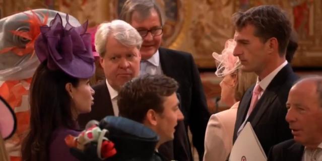 Чарльз Спенсер среди гостей свадьбы.