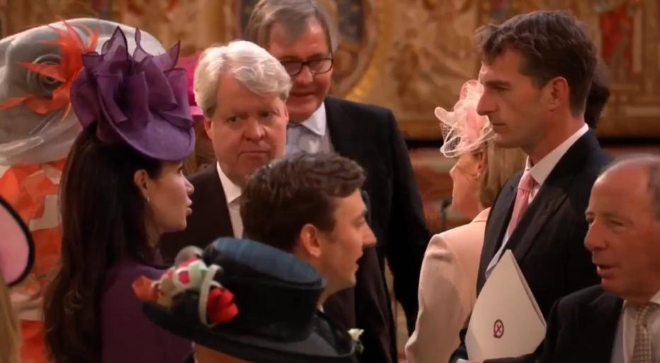 Чарльз Спенсер среди гостей свадьбы. Фото Скриншот