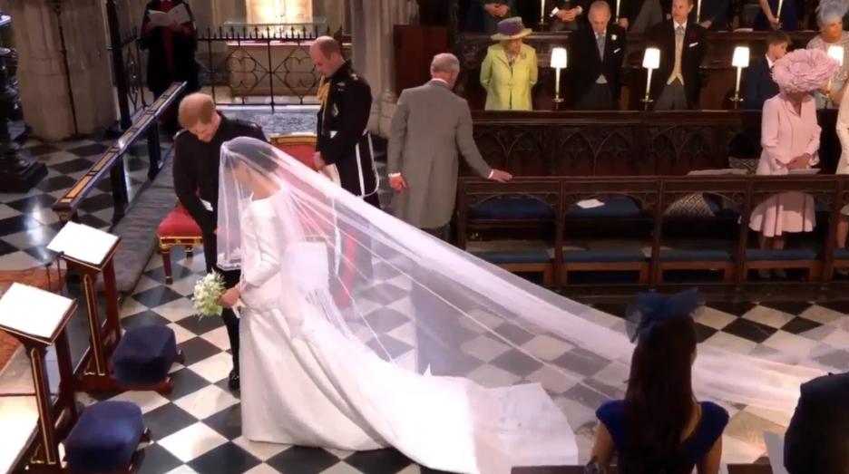 Незабываемые кадры свадьбы принца Гарри и Меган Маркл. Фото Скриншот Youtube