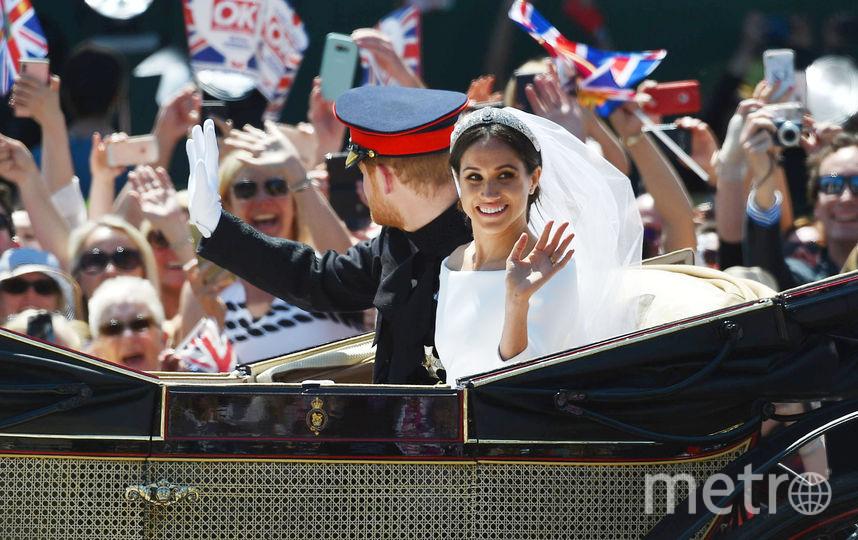Принц Гарри и Меган Маркл впервые вышли на публику как муж и жена: Фото. Фото Getty