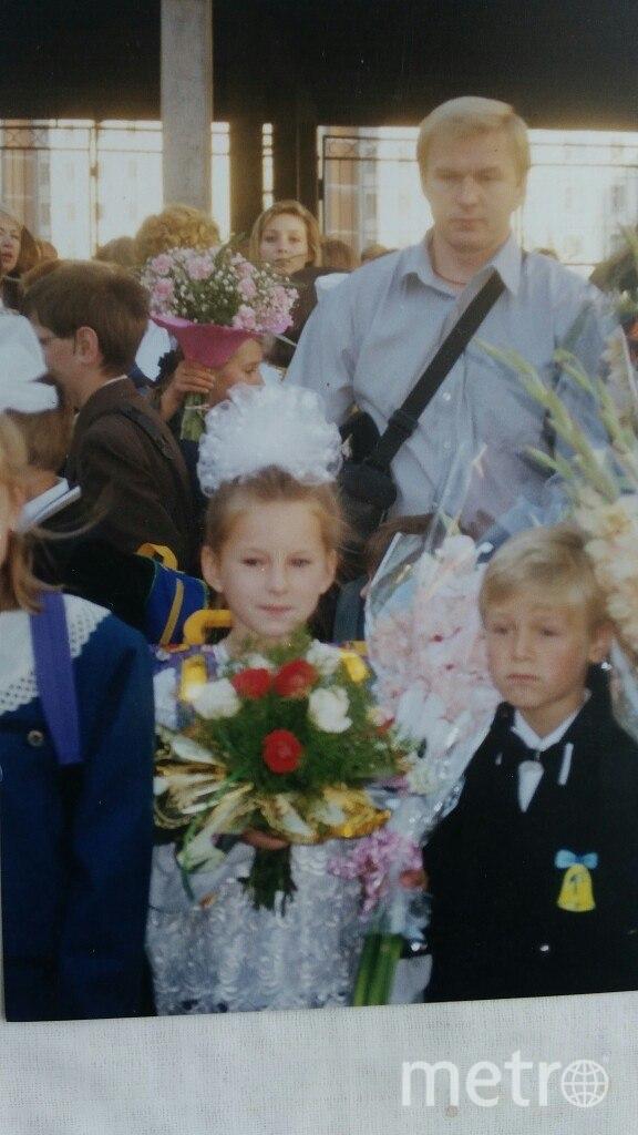 Игорь Рачилин с дочерью, 1997 год - Анне 7 лет, она идёт в 1-й класс. Фото предоставил Игорь Рачилин