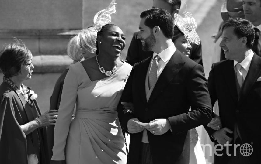 Серена Уильямс с мужем. Фото AFP
