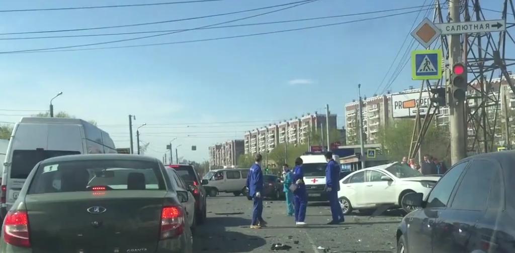 Смертельнео ДТП в Челябинске. Фото скриншот видео vk.com/chp_chel
