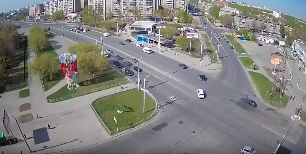 Смертельнео ДТП в Челябинске. Фото Все - скриншот YouTube