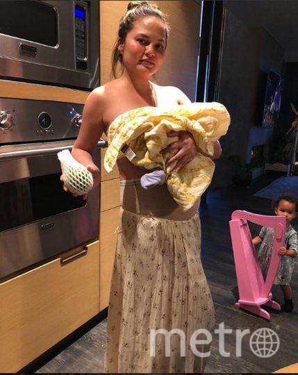 Крисси Тейген и ее малыш. Фото https://www.instagram.com/chrissyteigen/