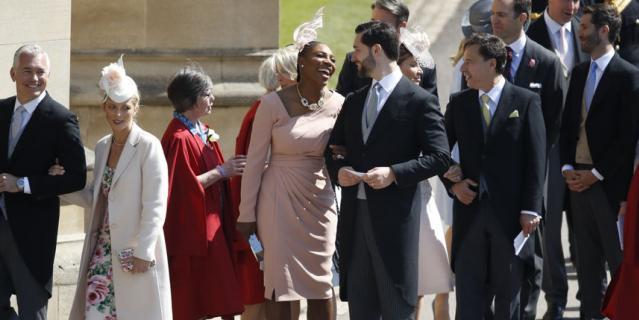 Серена Уильямс с мужем Алексисом Оганяном.
