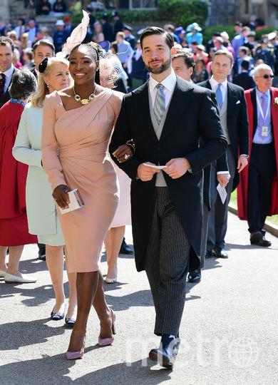 Серена Уильямс с мужем Алексисом Оганяном. Фото AFP