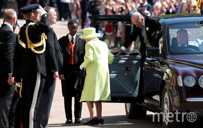 Королева Елизавета II на свадьбе у принца Гарри и Меган Маркл. Фото AFP