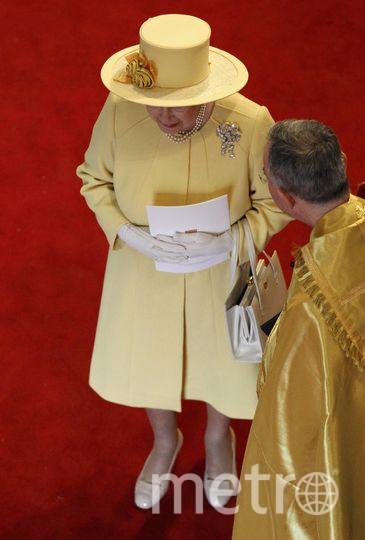 Королева Елизавета II на свадьбе у принца Уильяма и Кейт в 2011 году. Фото Getty