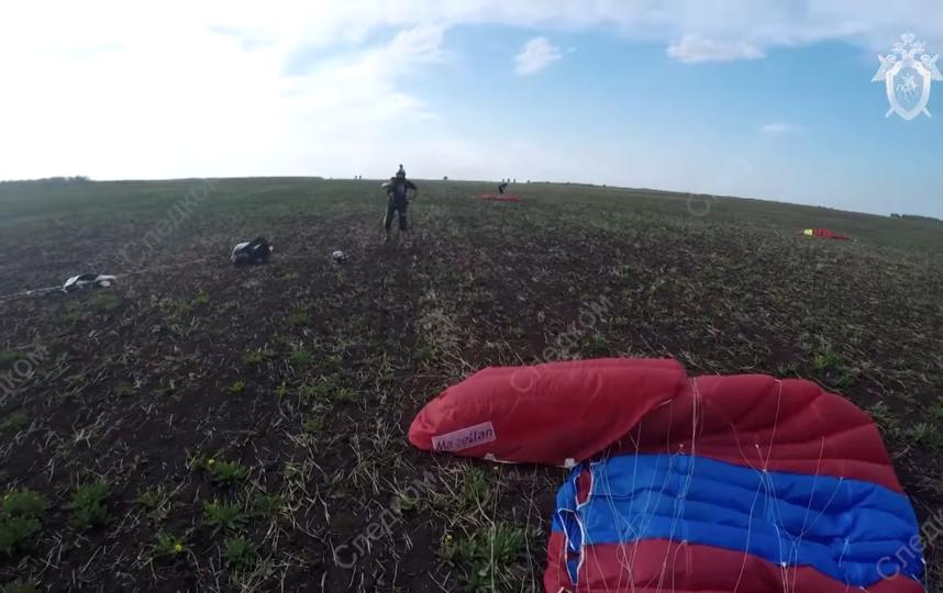 Падение парашютистов в Татарстане. Фото СК РФ | скриншот, Скриншот Youtube