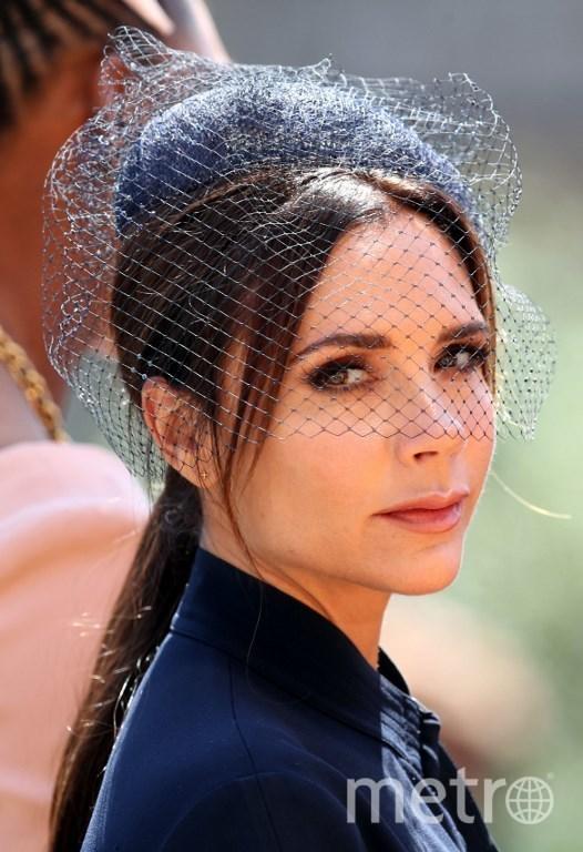 Виктория Бэкхем на свадьбе принца Гарри и Меган Маркл. Фото AFP