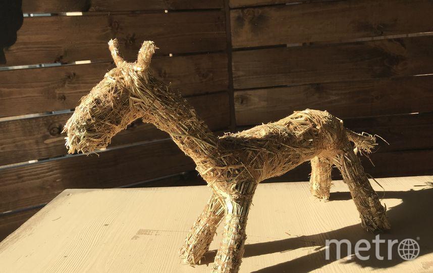 Лошадка из сена. Фото Предоставлено «городской фермой» на ВДНХ
