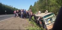 Автобус с детьми упал в кювет под Псковом: видео и подробности от очевидцев