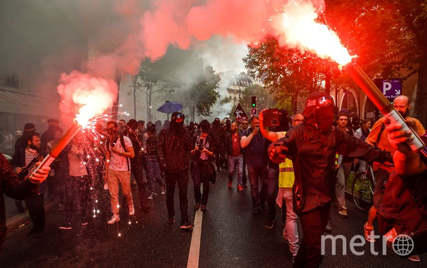 Беспорядки в Париже. Фото AFP
