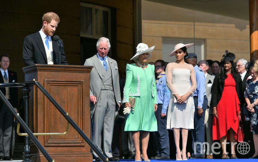 Принц Гарри говорил речь, когда его прервала пчела. Фото Getty