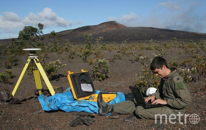 Учёный из Геологической службы США. Фото Twitter