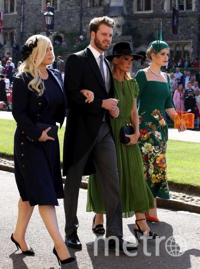 Луи Спенсер с матерью и сёстрами на свадьбе Меган и Гарри. Фото Getty