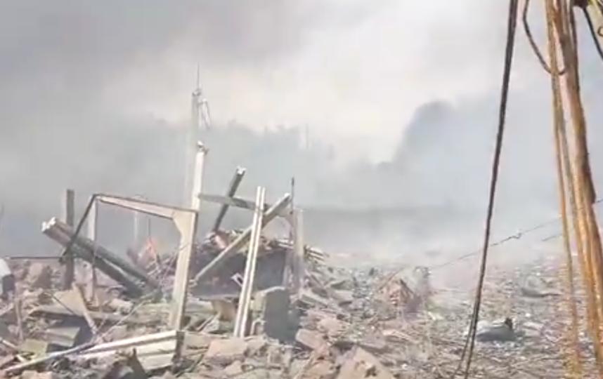 Взрыв пиротехники в Испании уничтожил целый район. Фото скриншот видео соцсети