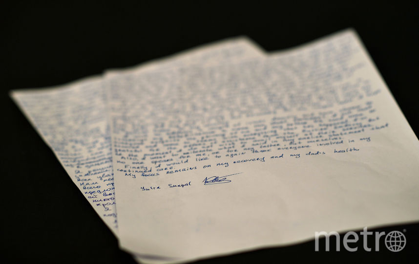 Письма Юлии Скрипаль. Фото AFP