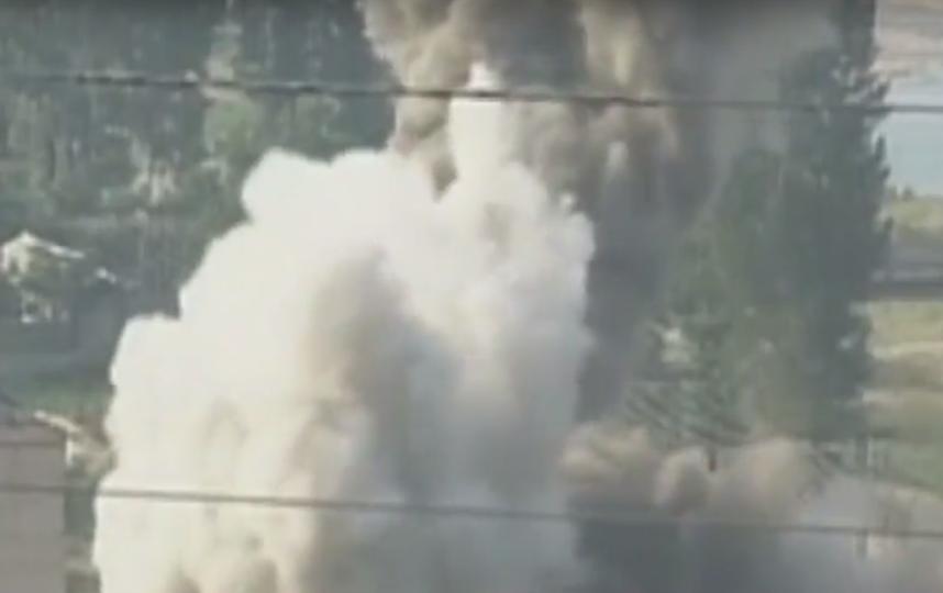 Уничтожение ядерного полигона Пунгери. Фото Скриншот Youtube