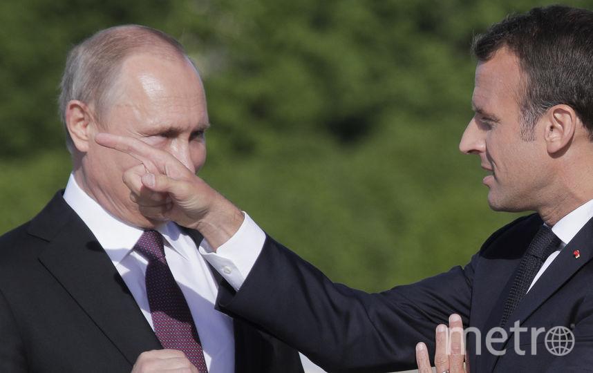 Первые фото со встречи Путина и Макрона. Фото AFP