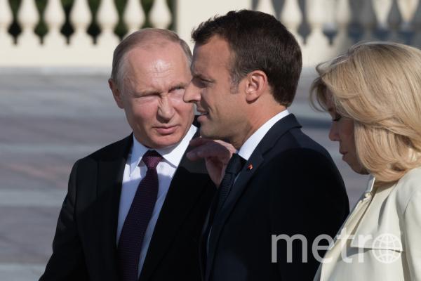Путин и Макрон. Фото РИА Новости