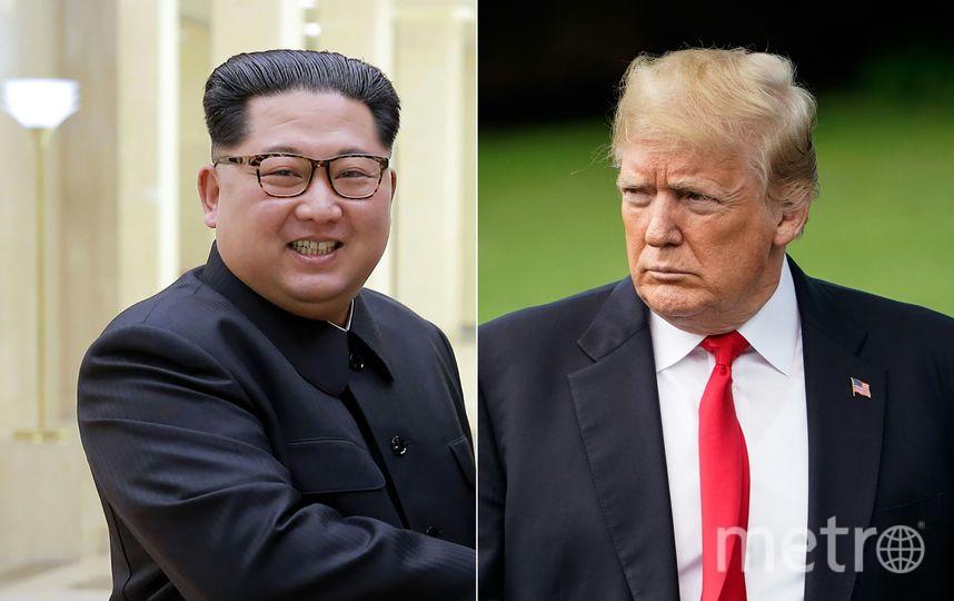 Президент США Дональд Трамп и глава КНДР Ким Чен Ын. Фото AFP