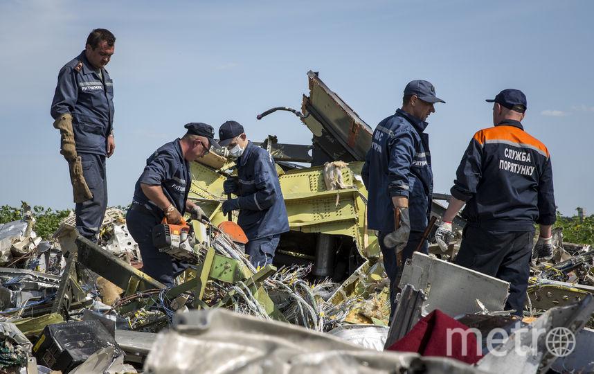 На месте крушения MH17. Фото Getty