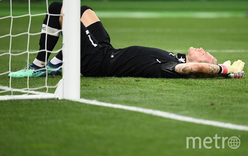 """Вратарь """"Ливерпуля"""" Лорис Кариус - антигерой матча. Фото AFP"""
