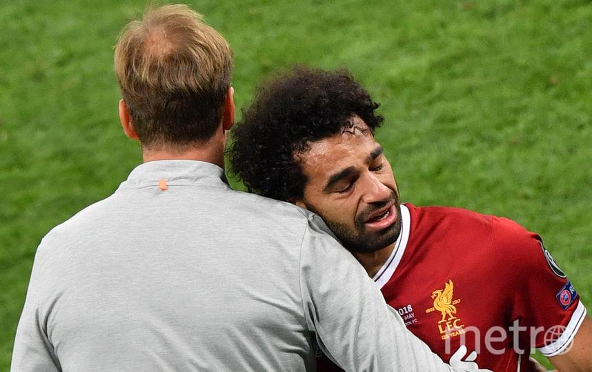 """Лидер """"Ливерпуля"""" Мохаммед Салах не смог доиграть матч из-за травмы плеча. Фото AFP"""