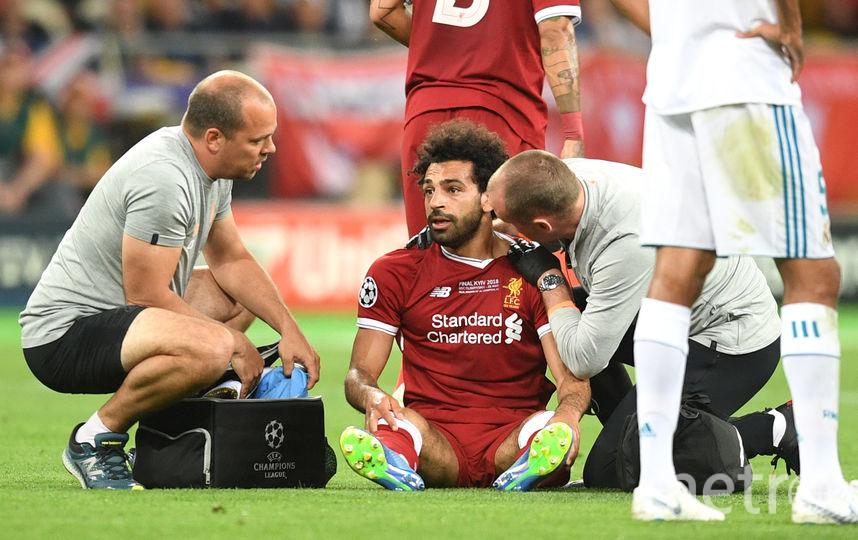 Салах получил травму плеча в матче Лиги чемпионов. Фото Getty