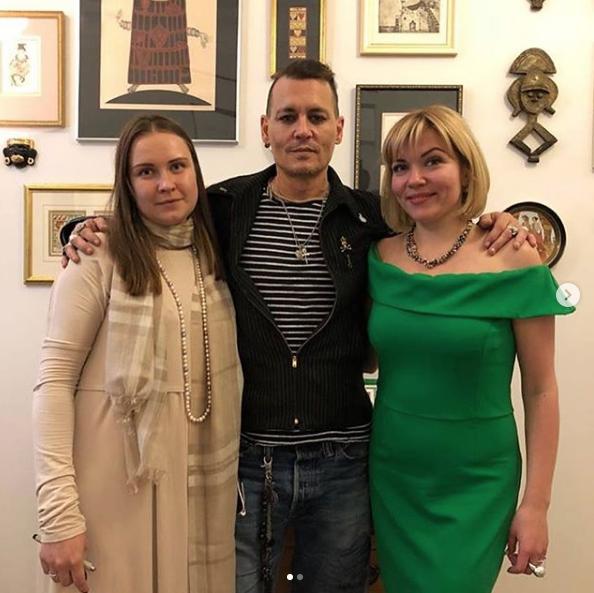 Джонни Депп в музее памяти Маяковского. Фото https://www.instagram.com/mosgortur.museum/