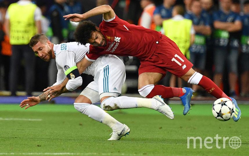 Салах получил травму в финале Лиги чемпионов. Фото AFP