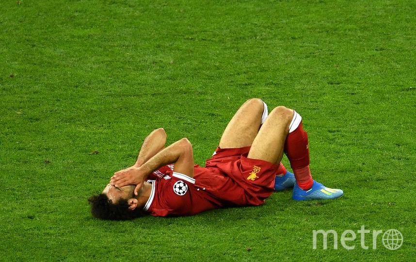 Мохаммед Салах получил травму в финале Лиги чемпионов. Фото Getty