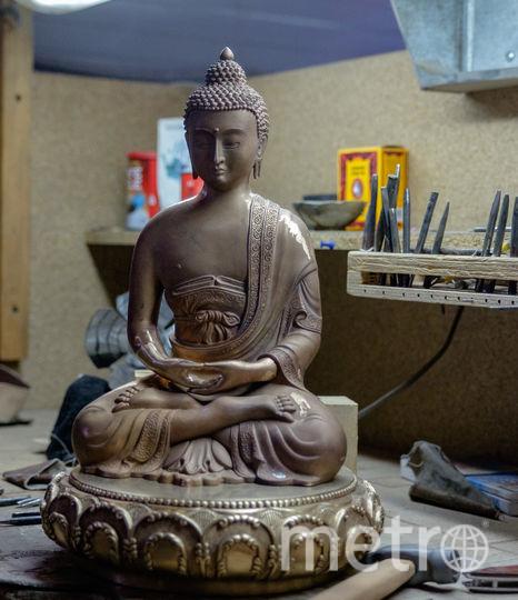 """Первая статуя Будды Шакьямуни, отлитая из бронзы. Фото Алена Бобрович, """"Metro"""""""