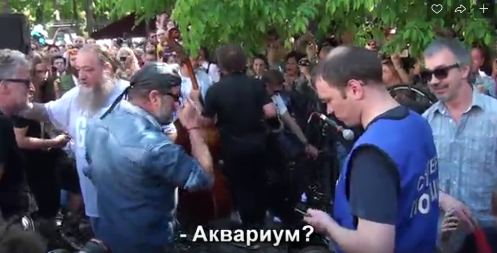 Бориса Гребенщикова не узнали на собственном концерте. Фото vk.com