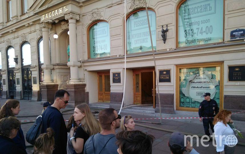 "На Невском проспекте горело здание ""Пассажа"". Фото https://megapolisonline.ru/"
