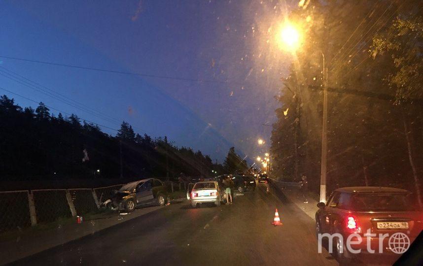 Фото с места ДТП на Зеленогорском шоссе. Фото vk.com