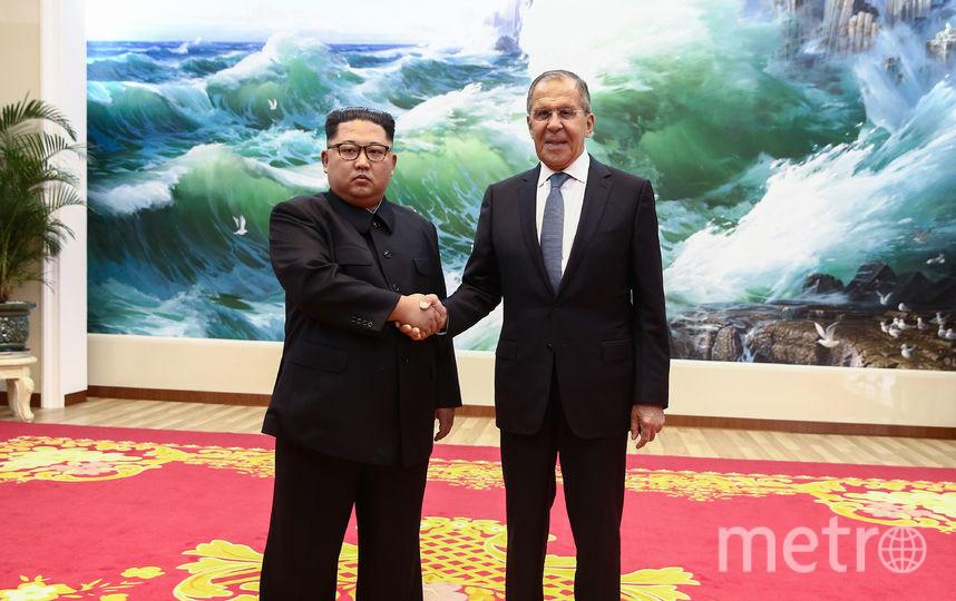 Встреча Сергея Лаврова с Ким Чен Ыном. Фото AFP