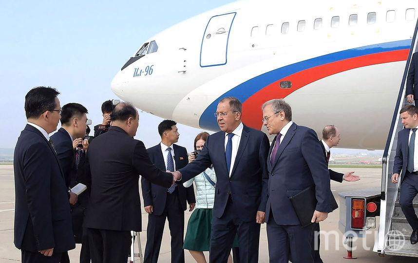 Сергей Лавров прибыл в КНДР. Фото AFP