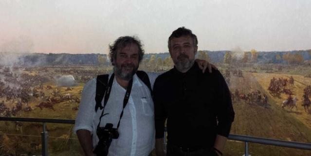 """Питер Джексон в Музее-панораме """"Бородинская битва""""."""