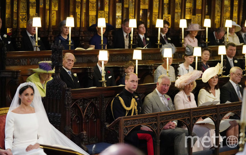 Королева Елизавета II на свадьбе принца Гарри и Меган Маркл, фотоархив. Фото Getty