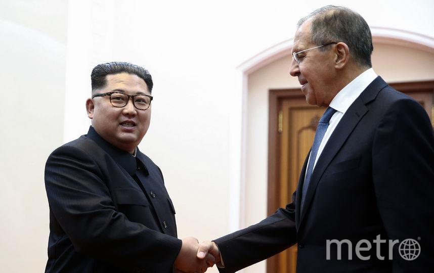 Встреча Сергея Лаврова и Ким Чен Ына. Фото AFP