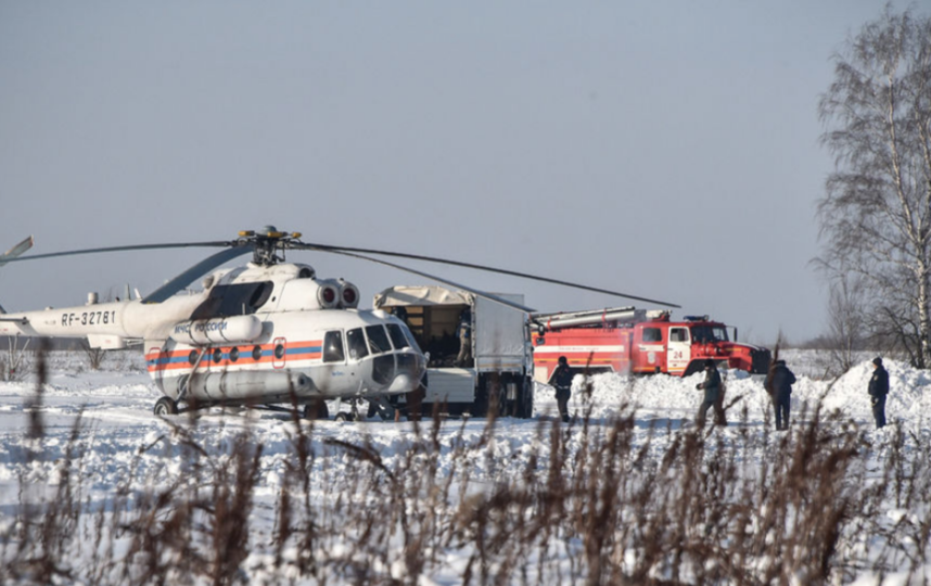 "Место крушения Ан-148 ""Саратовских авиалиний"". Фото AFP"