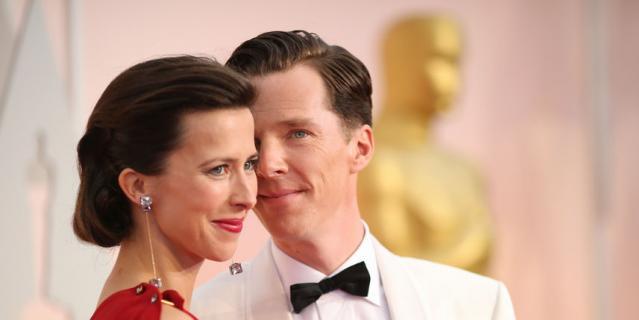 Бенедикт Камбербэтч с женой.