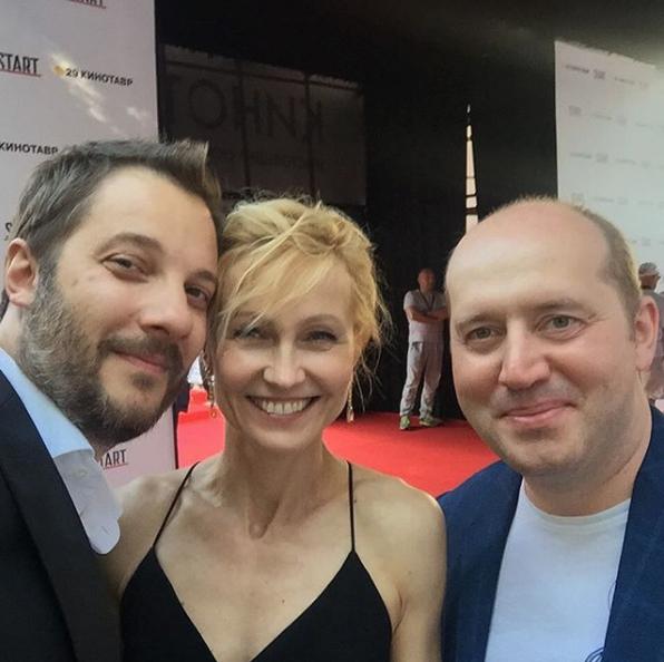 Александр Цыпкин, Ингеборга Дапкунайте и Сергей Бурунов. Фото Скриншот Instagram: alexander_tsypkin
