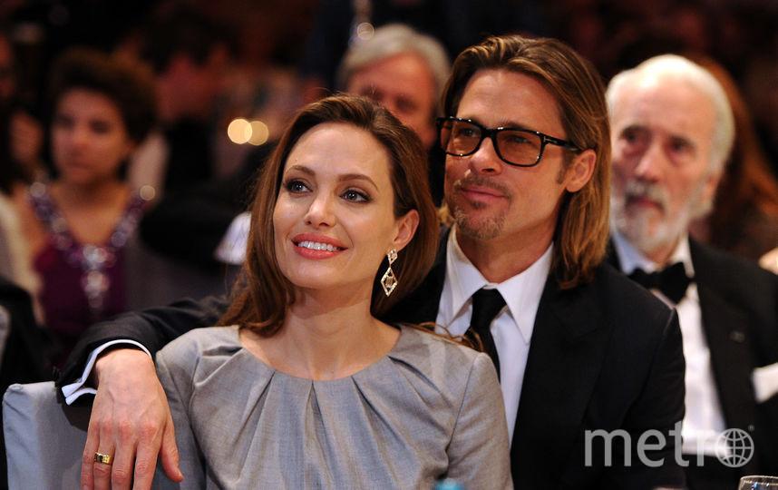 Анджелина Джоли с бывшим супругом Бредом Питтом, фотоархив. Фото Getty