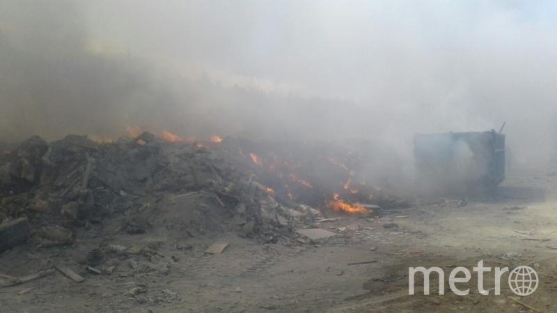 Ликвидация пожара. Фото пресс-службы МЧС.