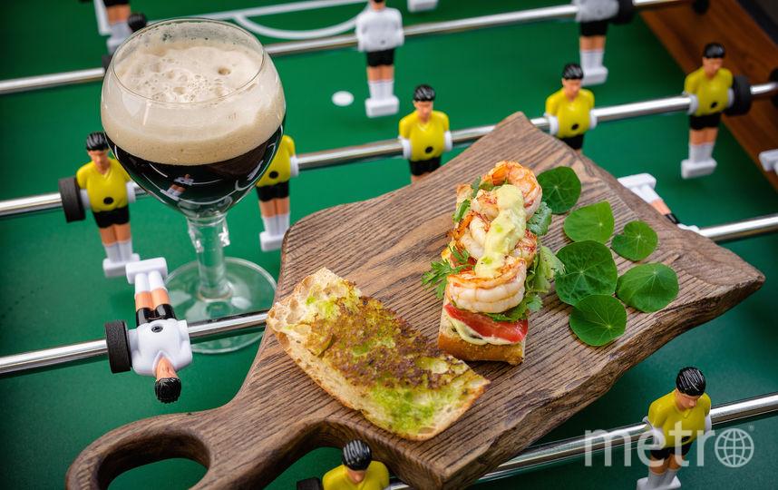 Сэндвич с креветкой для Эдвина ван дер Сара. Фото предоставлено пресс-службой паба