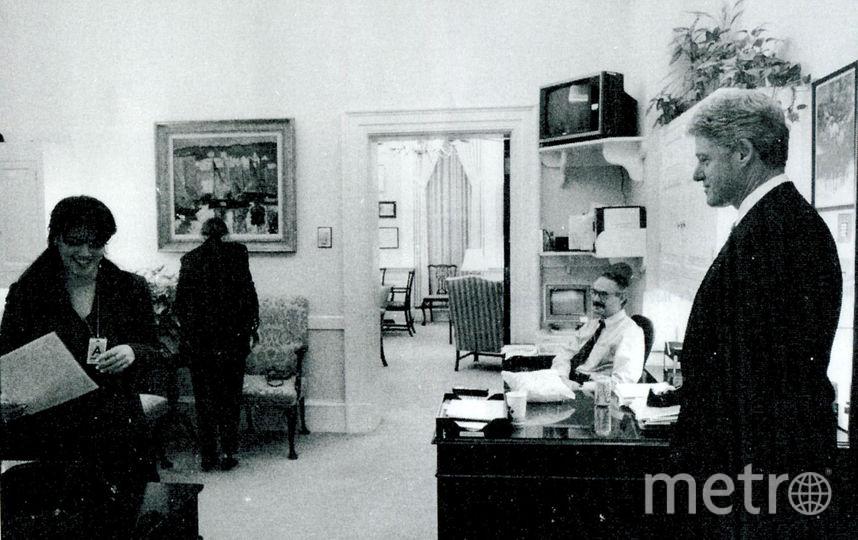 Моника Левински и Билл Клинтон. Фото Getty